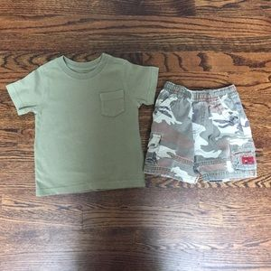The Children's Place Matching Sets - Children's Place Boys Camouflage Short (see size)